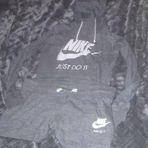 Nike Hoodie and Short Set